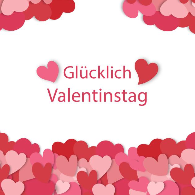 Glucklich Valentinastag