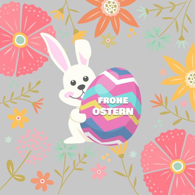 Osterhase feiert Ostern