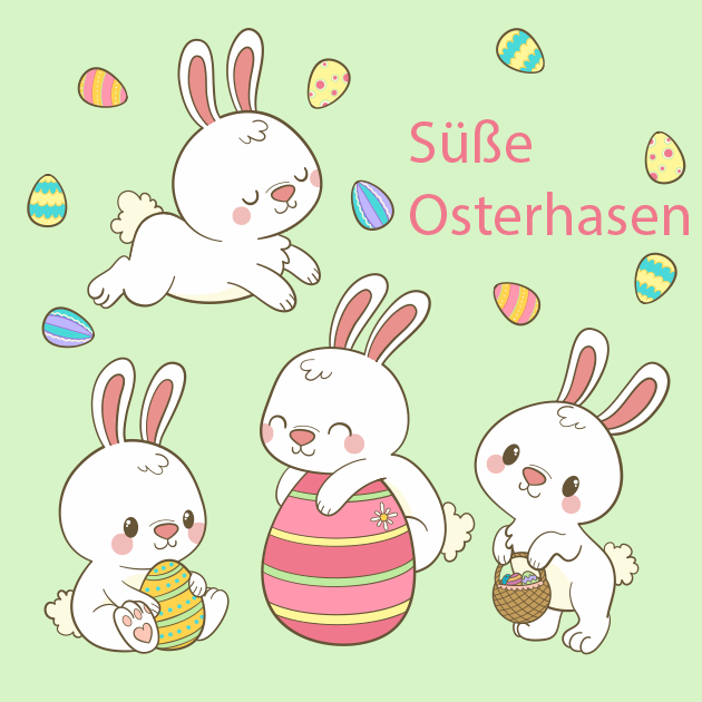 Süße Osterhasen Wunderbare Bilder