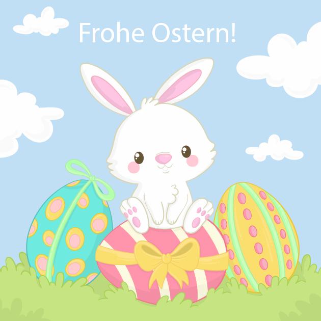 Süßer Osterhase und Eier 2