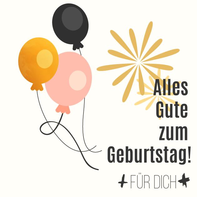 Alles Gute zum Geburtstag Luftballons