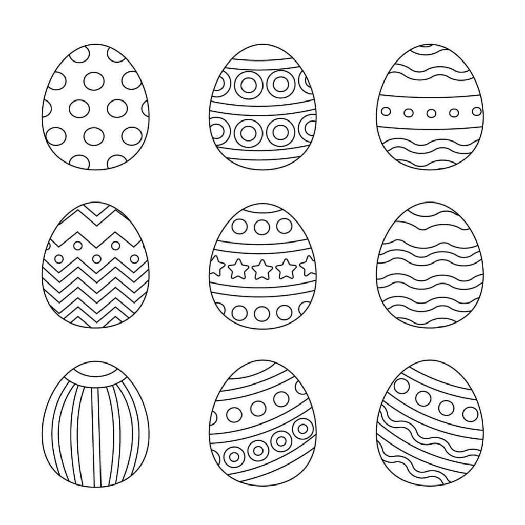 Ausmalbilder Ostern Eier