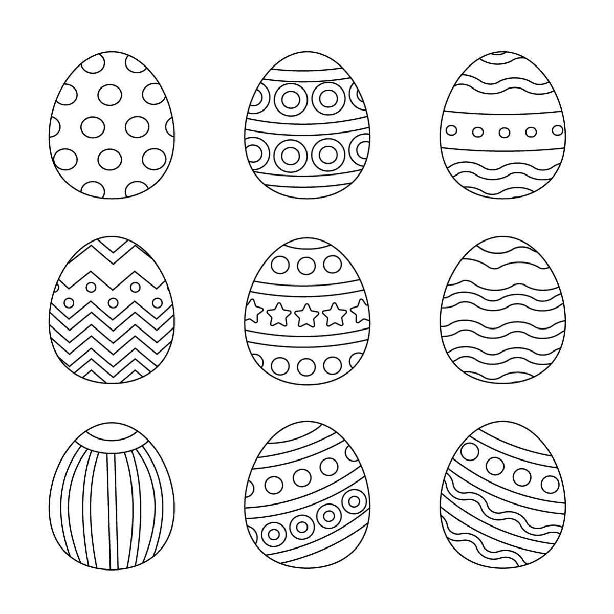 Ausmalbilder Ostern Eier Wunderbare Bilder