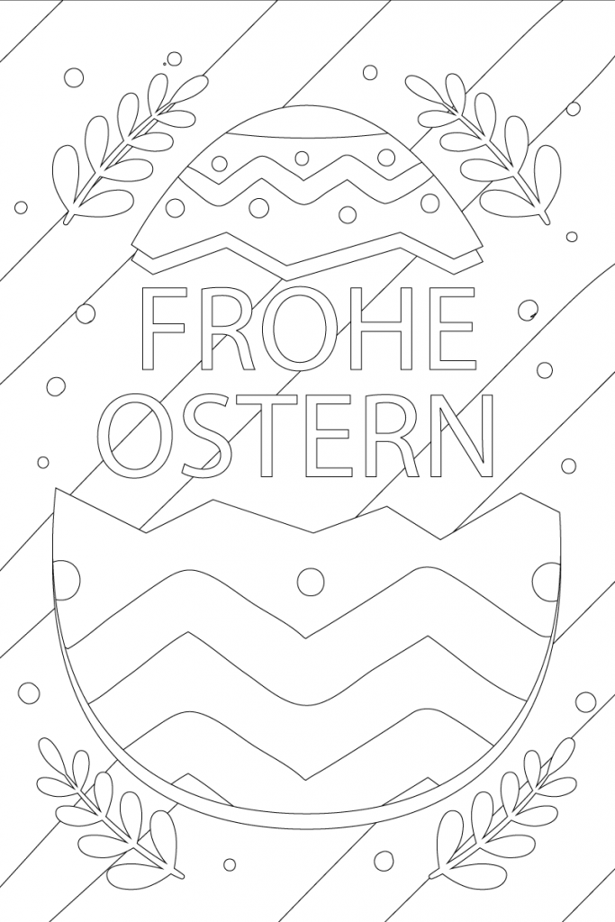 Frohe Ostern Ausmalbilder Ei