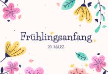 Frühlingsanfang 20 März