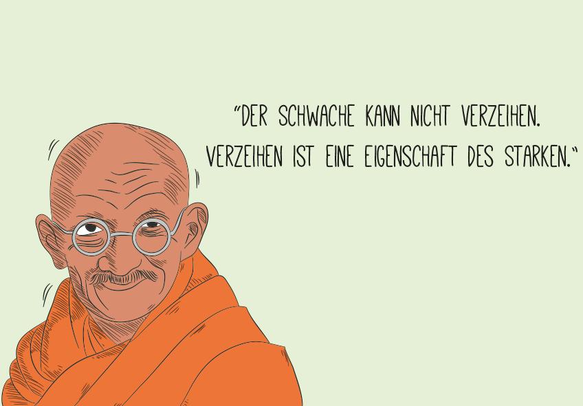 Ein Zitat von Gandhi