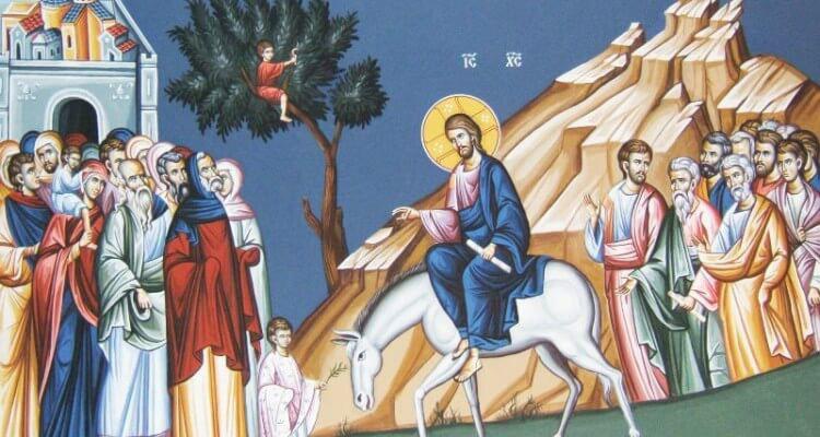 Palmsonntag Einzug Jesu Christi in Jerusalem