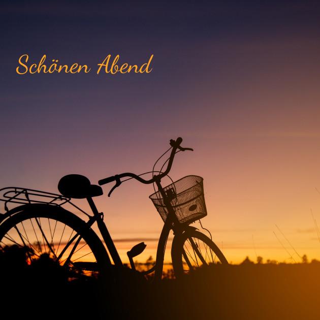 Schönen Abend Sonnenuntergang