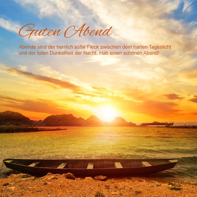 Sonnenuntergang am Meer Guten Abend