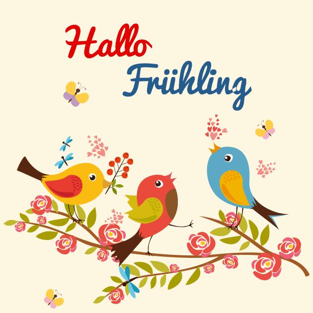 Vogel singen ein-Frühlingslied