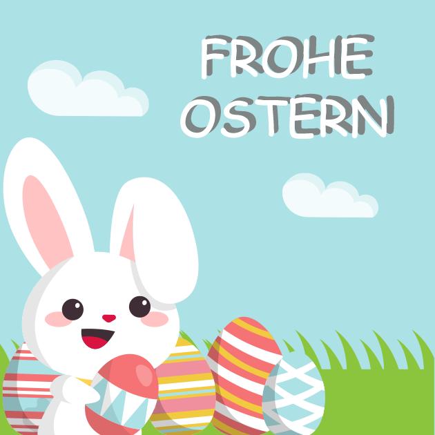 lustiger Osterhase bringt Eier