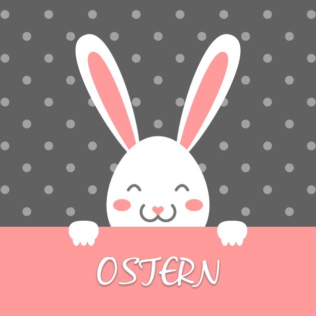 Süßer Osterhase lächelt