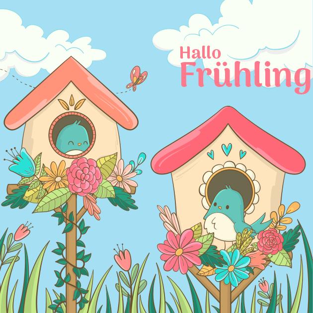Vögel des Frühlings