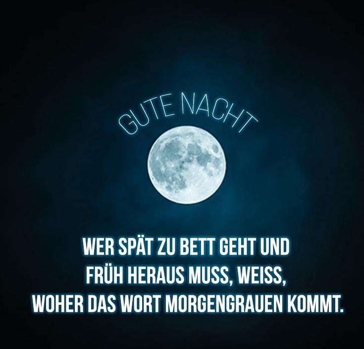 Blauer Mond sagt gute Nacht