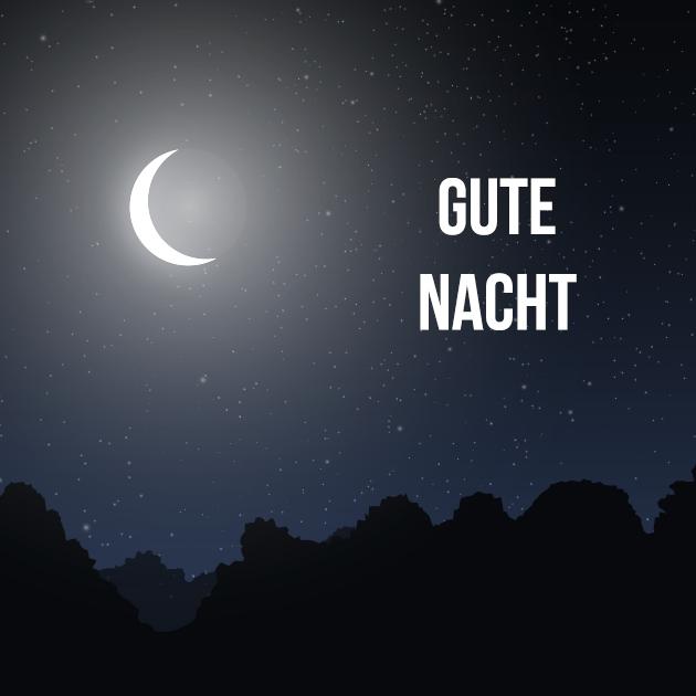 Mondlicht gute Nacht