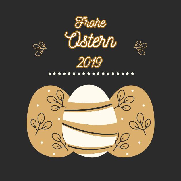 Ostereier feiern Ostern 2019