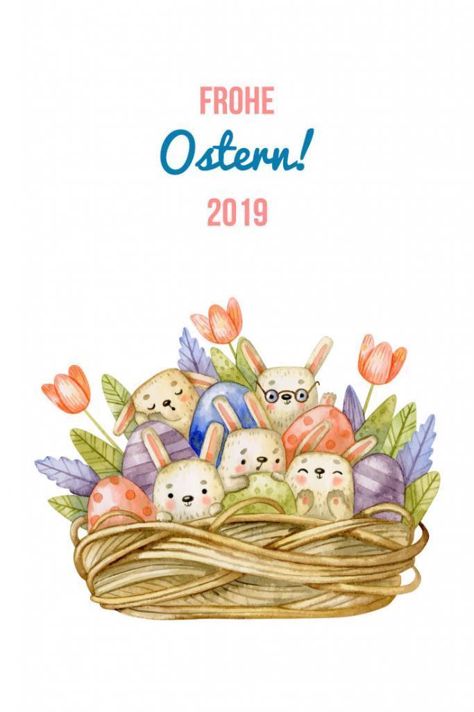 Osterkorb voll Osterhasen