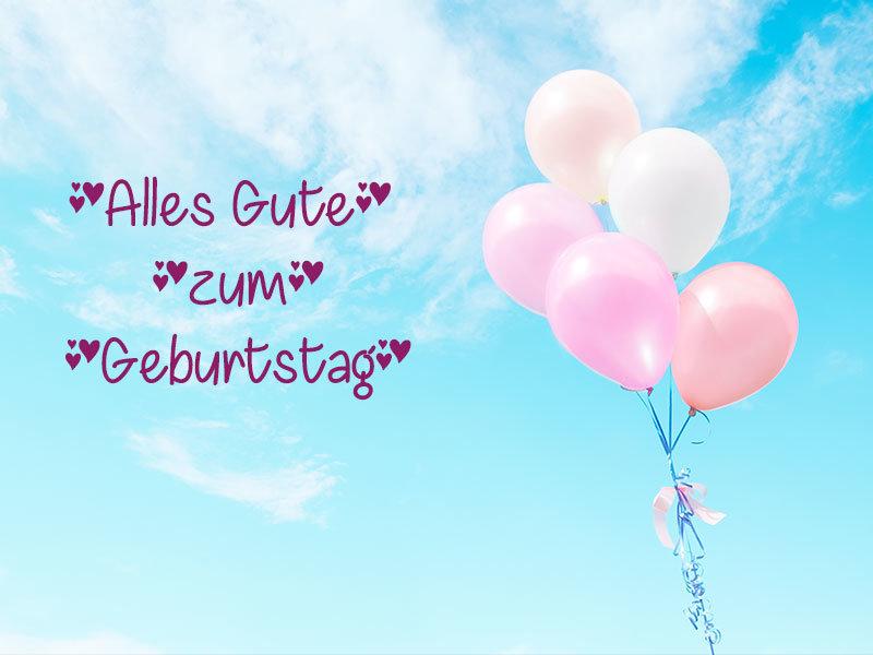 Geburtstagsballons für Schatz