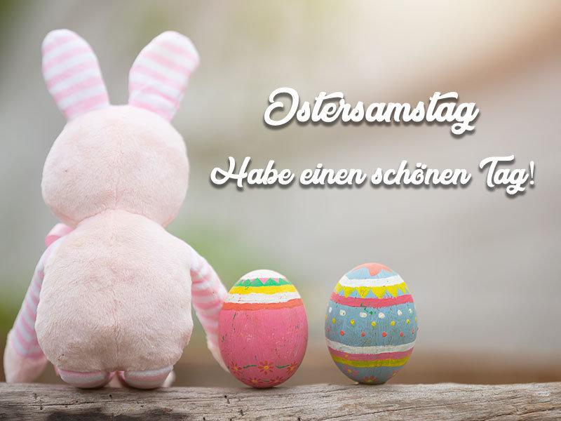 Ostersamstag Schönen Tag
