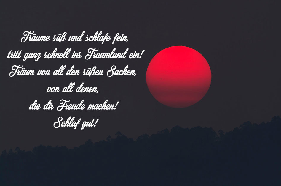 Gute Nacht Roter Mond