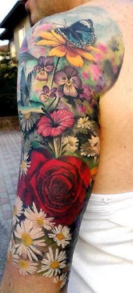 Tattoo Rose Arm 8