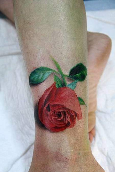 Tattoo Rose Fuß 6