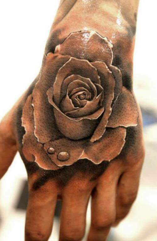 Tattoo Rose Hand 1