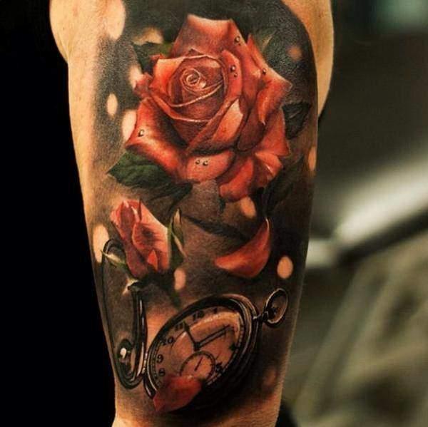 Tattoo Rose Oberarm 2