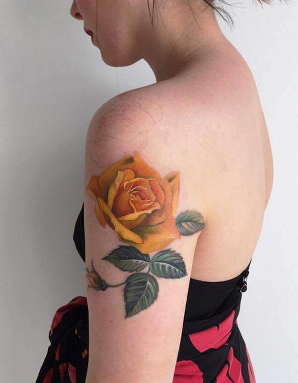 Tattoo Rose Oberarm 5