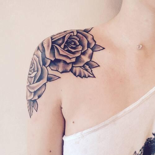 Tattoo Rose Oberarm 6