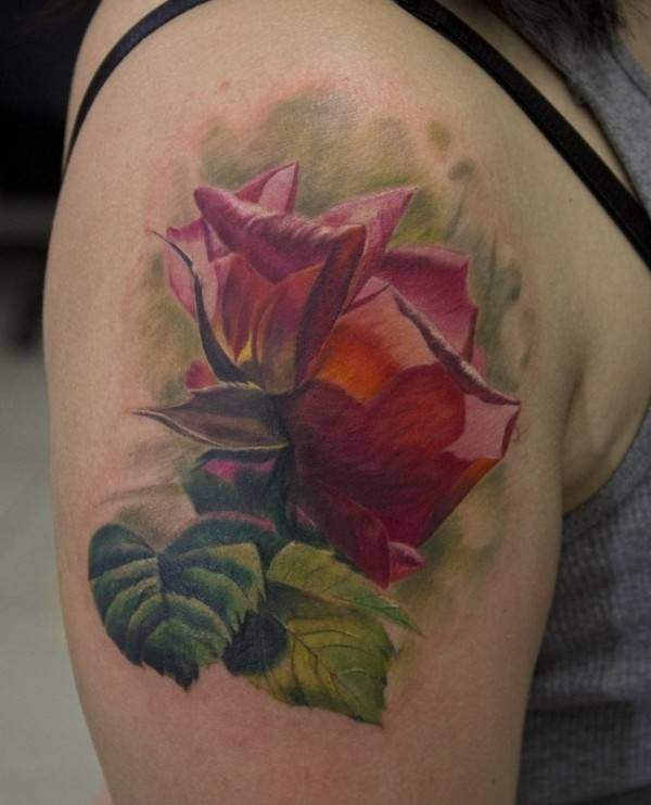 Tattoo Rose Oberarm
