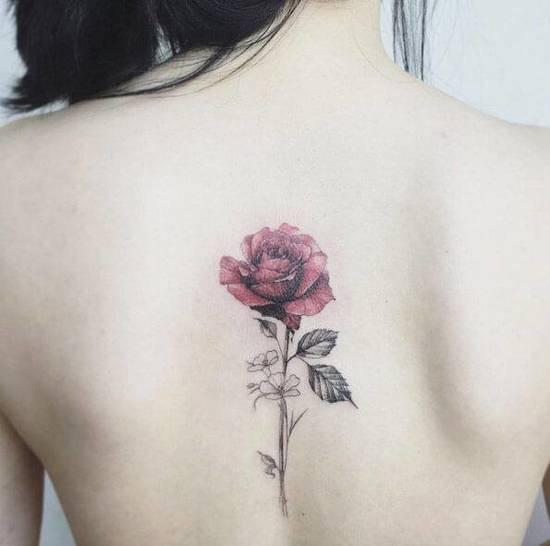 Tattoo Rose Rücken 1