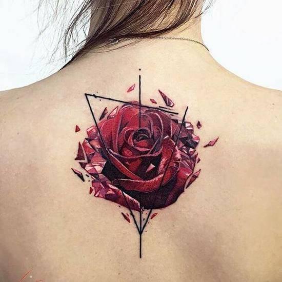 Tattoo Rose Rücken 4