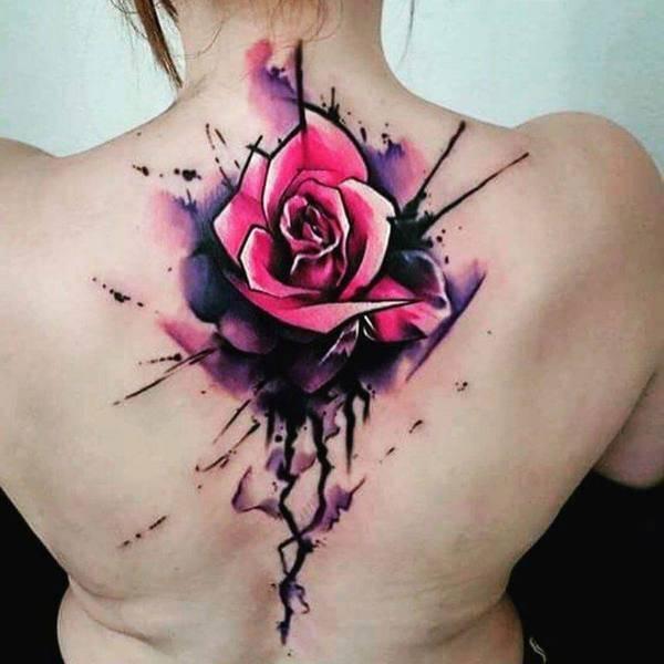 Tattoo Rose Rücken 5