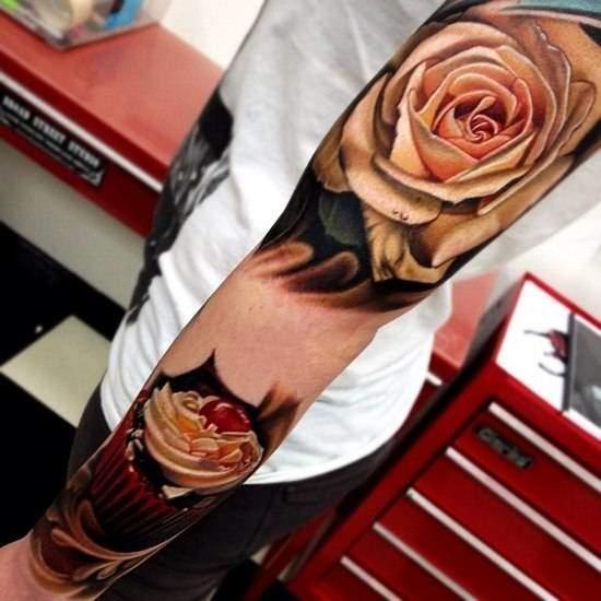 Tattoo Rose Unterarm 11