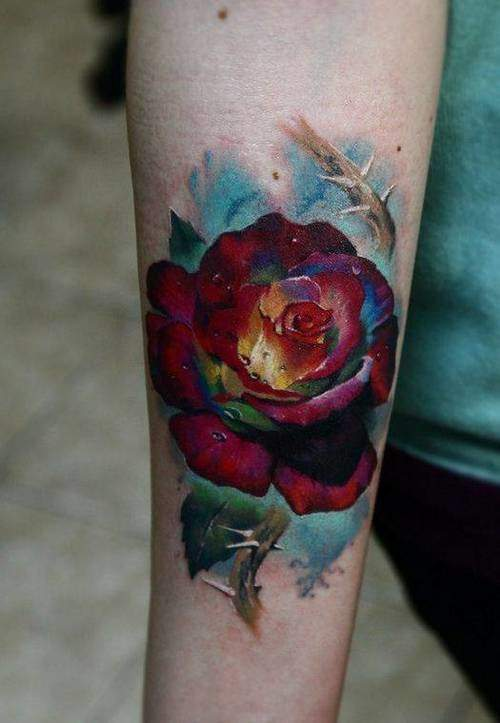 Tattoo Rose Unterarm 12