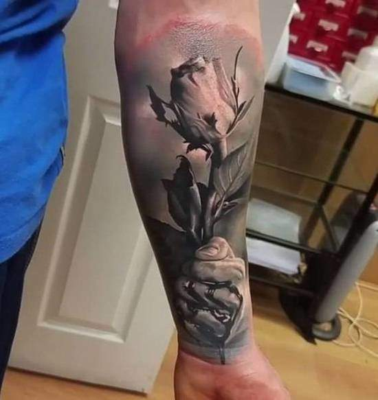 Tattoo Rose Unterarm 3
