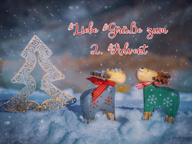 Liebe Grüße Zum 2 Advent Wunderbare Bilder