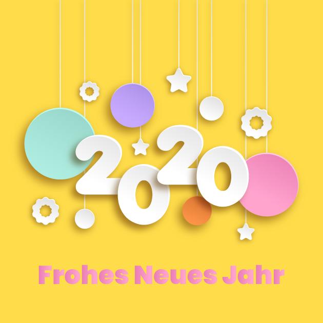 Frohes Neues Jahr 2020 Bild