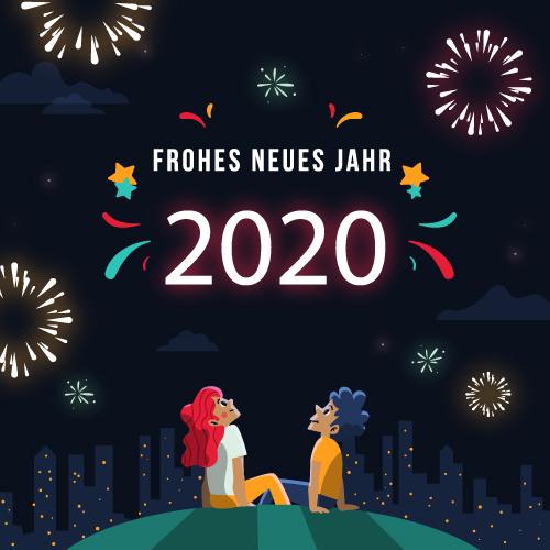 Frohes Neues Jahr 2020 Schöne 2020 Neujahrsgrüße Lustige