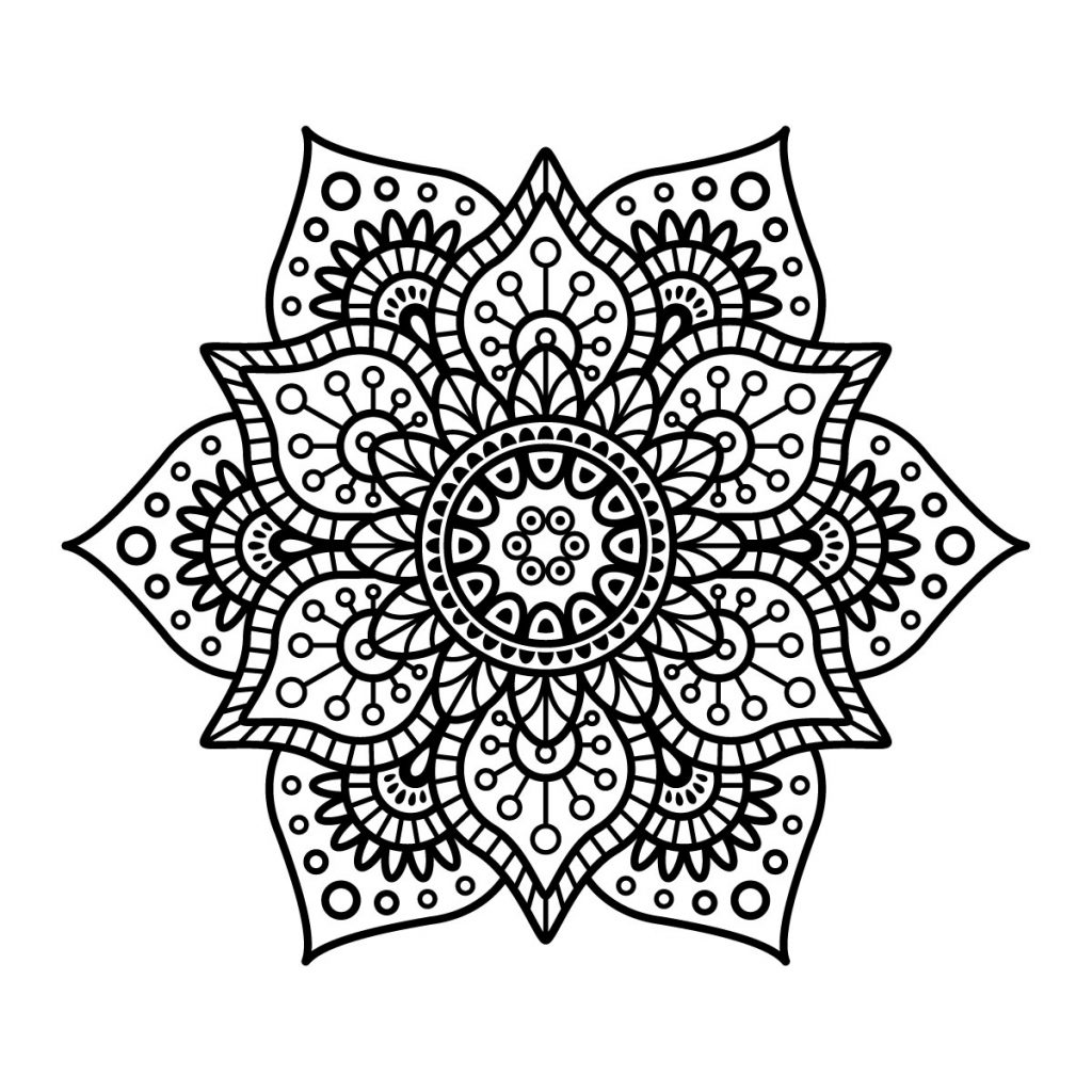 mandala ausmalbilder blumen