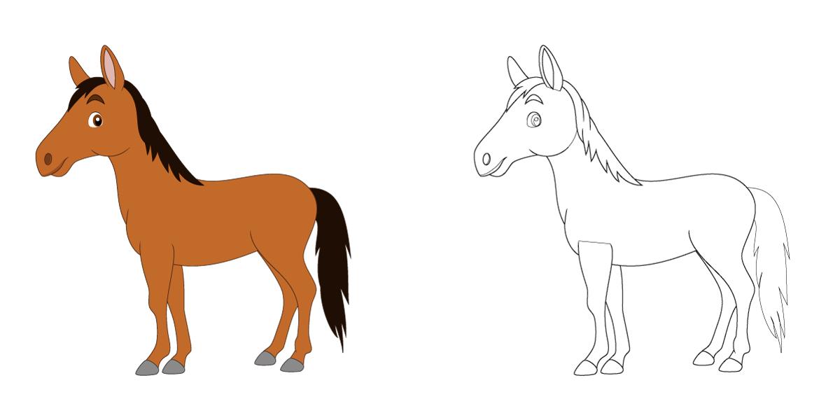 Ausmalbilder Pferde