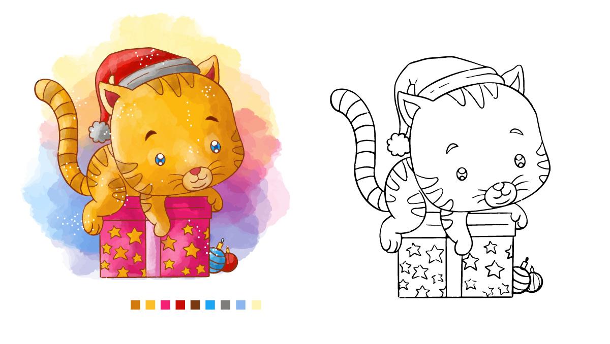 Ausmalbilder Tiere Katze