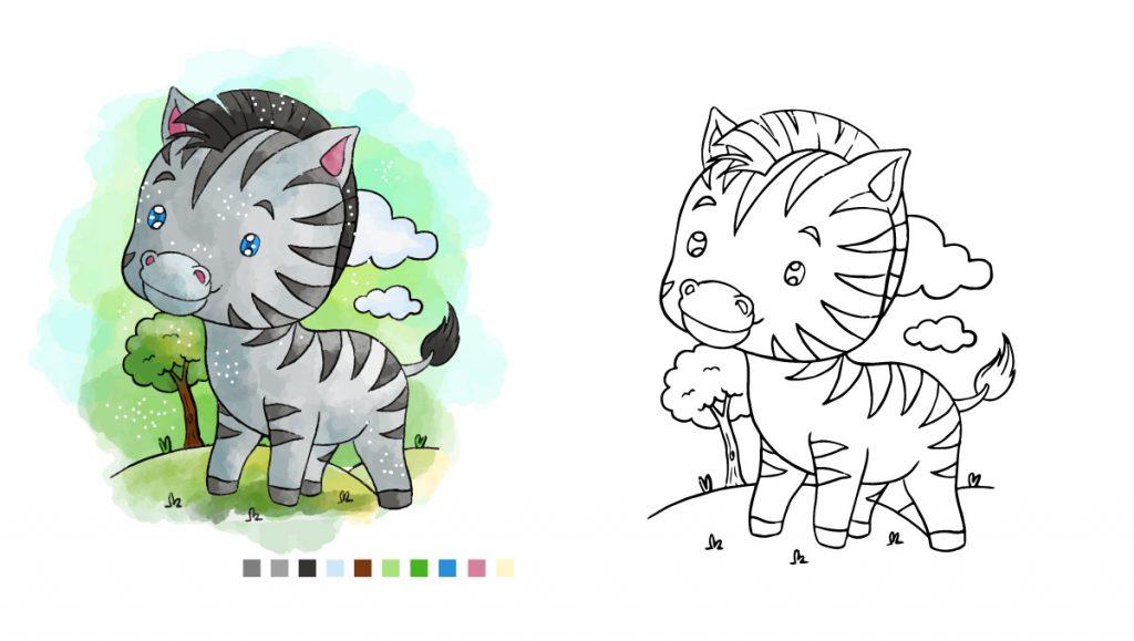 Ausmalbilder Tiere Zebra