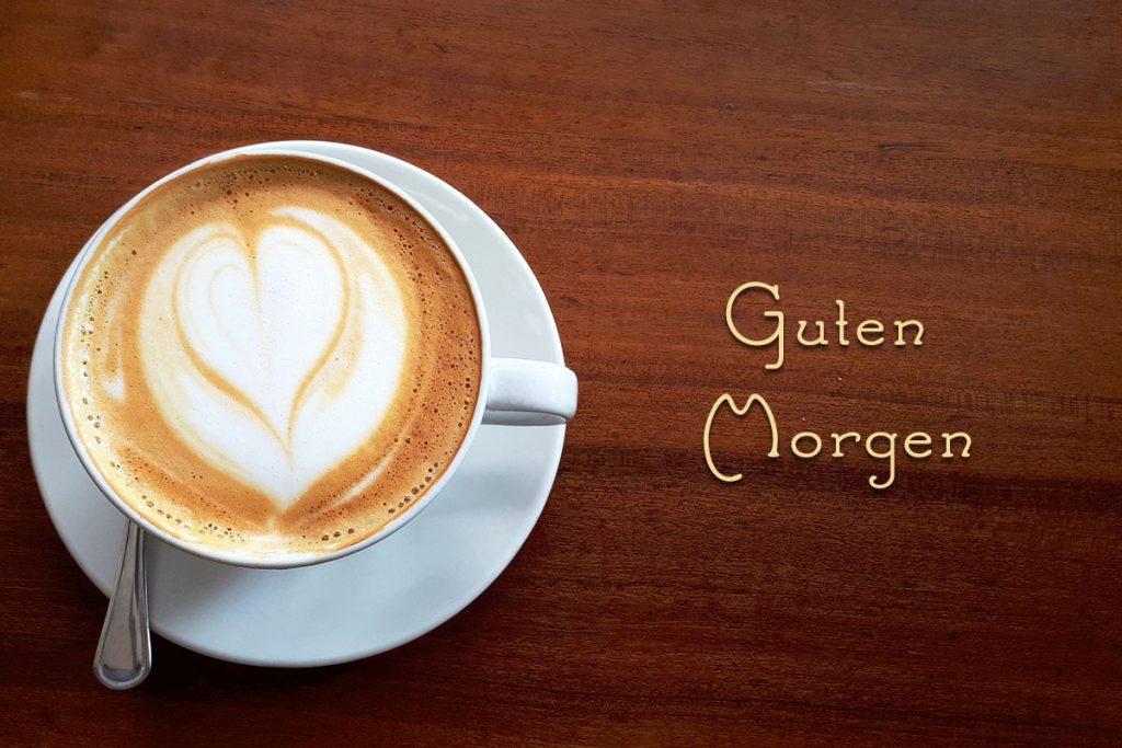 Guten morgen mit kaffee